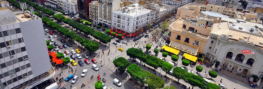 the Tunisian capital